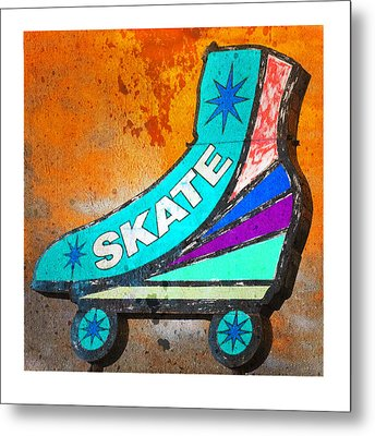 Orange Skate Metal Print by Gail Lawnicki