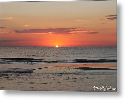 Metal Print featuring the photograph Orange Sky Dawn by Robert Banach