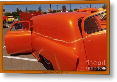 Orange Splash Panel Metal Print by Bobbee Rickard