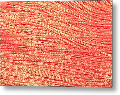 Orange String Metal Print by Tom Gowanlock