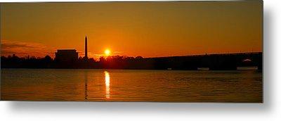 Orange Sunrise Over Dc Metal Print by Metro DC Photography
