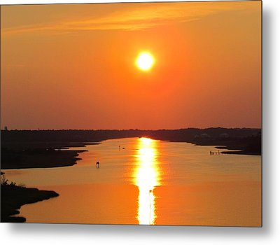 Metal Print featuring the photograph Orange Sunset by Cynthia Guinn