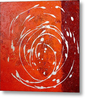 Orange Swirl Metal Print
