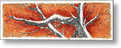 Metal Print featuring the mixed media Orange Tree by Tim Oliver