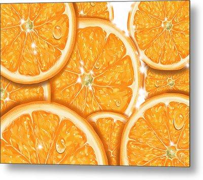 Orange Metal Print by Veronica Minozzi