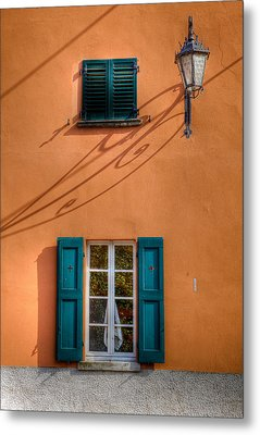 Metal Print featuring the photograph Orange Wall  by Uri Baruch