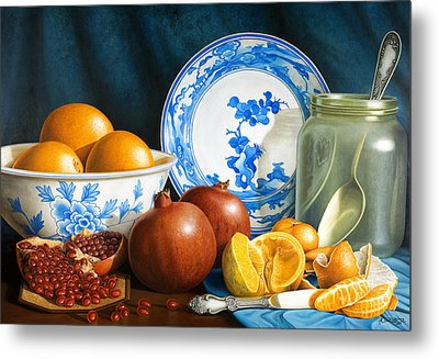 Oranges And Pomegranates Metal Print by Horacio Cardozo