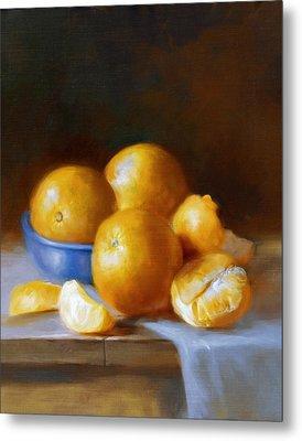 Oranges Metal Print by Robert Papp