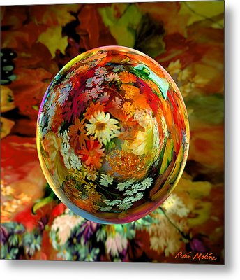 Orb Of Forever Autumn Metal Print by Robin Moline