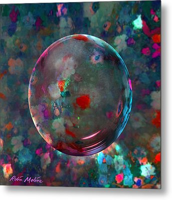 Orbed In Spring Blossom Metal Print by Robin Moline