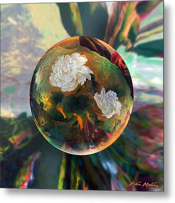 Metal Print featuring the painting Oriental Abstract  by Robin Moline