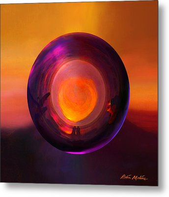 Orbing An Evening Sunset Metal Print