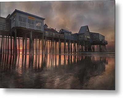Orchard Beach Glorious Morning Metal Print