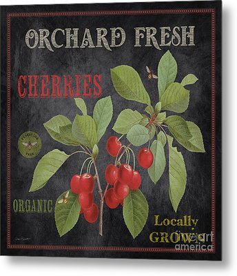 Orchard Fresh Cherries-jp2639 Metal Print by Jean Plout