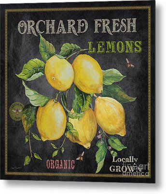 Orchard Fresh Lemons-jp2679 Metal Print by Jean Plout