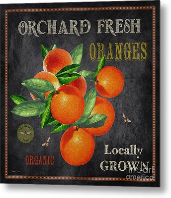 Orchard Fresh Oranges-jp2641 Metal Print by Jean Plout
