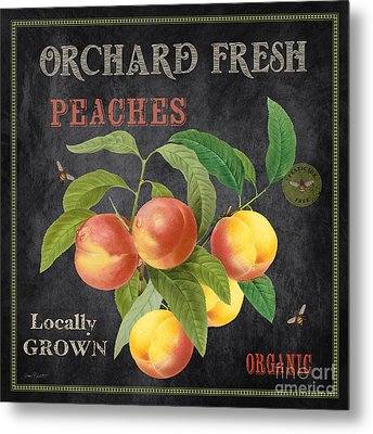 Orchard Fresh Peaches-jp2640 Metal Print by Jean Plout