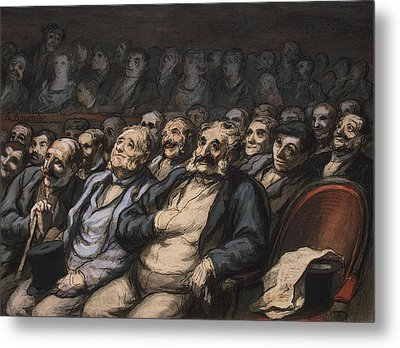 Orchestra Seat Metal Print by Honore Daumier