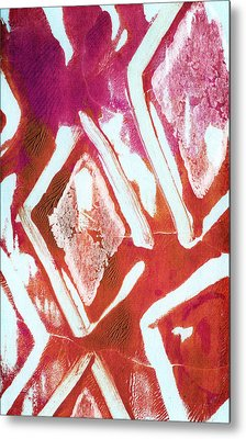 Orchid Diamonds- Abstract Painting Metal Print by Linda Woods