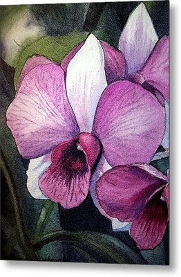 Orchid Metal Print by Irina Sztukowski
