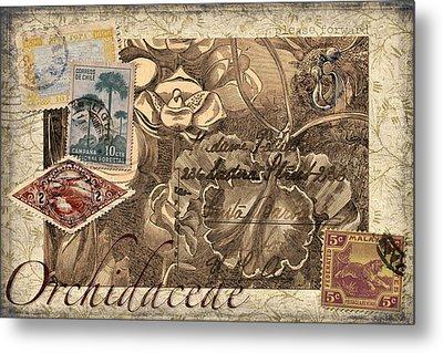 Orchidaceae Postcard Metal Print by Carol Leigh