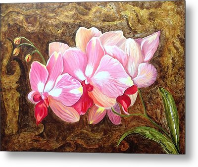 Orchids Metal Print by Renate Voigt
