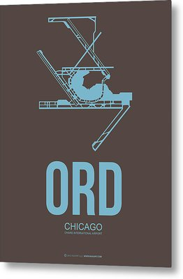 Ord Chicago Airport Poster 2 Metal Print