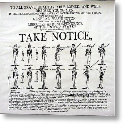 Order Of Battle - Take Notice Brave Men Metal Print by Susan Carella
