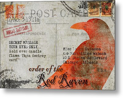 Order Of The Red Raven Faux Poste Metal Print