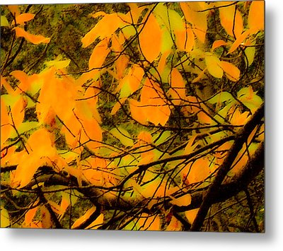 Ore Leaves Metal Print by Kristen R Kennedy