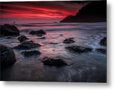 Oregon Afterglow Metal Print by Rick Berk