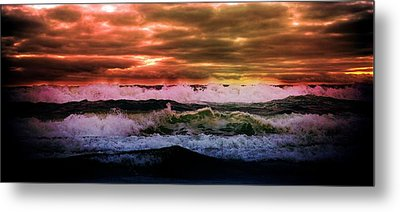 Beach Metal Print featuring the photograph Ocean Storm by Aaron Berg