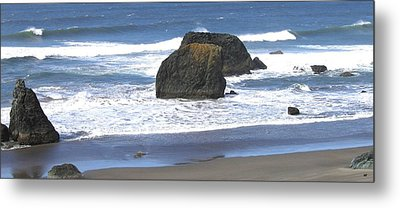 Oregon Coast Panorama Metal Print