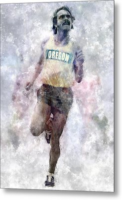 Oregon Ducks Steve Prefontaine Metal Print