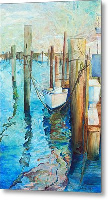 Oregon Inlet Metal Print by Arlissa Vaughn