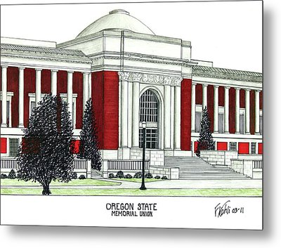 Oregon State Metal Print by Frederic Kohli