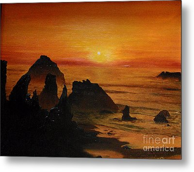Oregon Sunset Metal Print