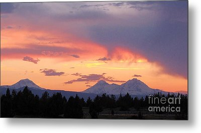 Oregon's Three Sisters  Metal Print by Michele Penner