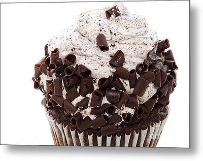 Oreo Cookie Cupcake 2 Metal Print by Andee Design