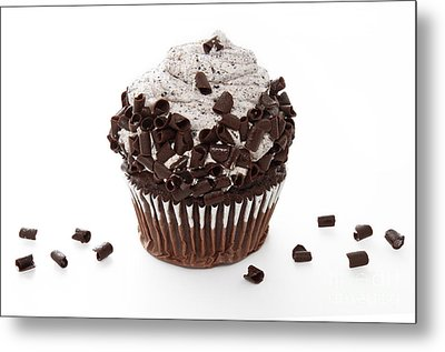 Oreo Cookie Cupcake Metal Print by Andee Design