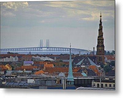 Oresund Bridge Metal Print