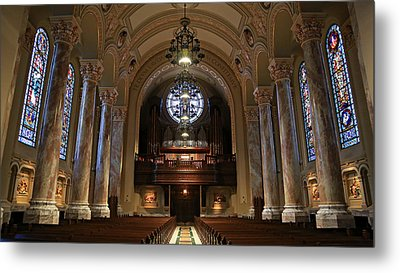 Organ -- Cathedral Of St. Joseph Metal Print by Stephen Stookey