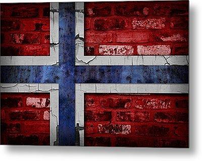 Organic Norway Flag Metal Print