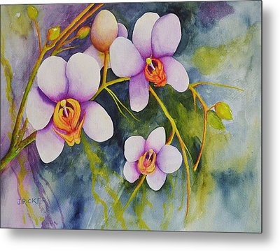 Orchids In My Garden Metal Print
