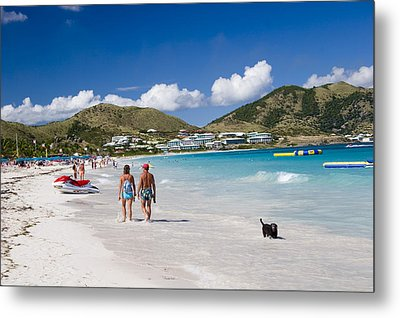 Orient Beach In St Martin Fwi Metal Print by David Smith