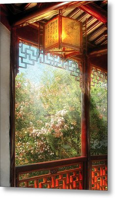 Orient - Lamp - Simply Chinese Metal Print by Mike Savad