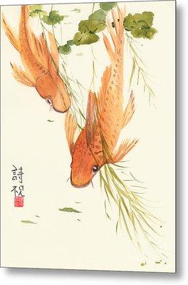 Oriental Koi II Metal Print by Sandy Linden
