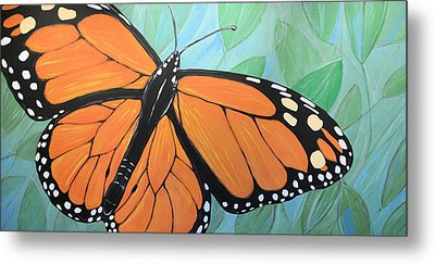 Metal Print featuring the painting Original Abstract Painting Butterfly Print ... Monarch by Amy Giacomelli
