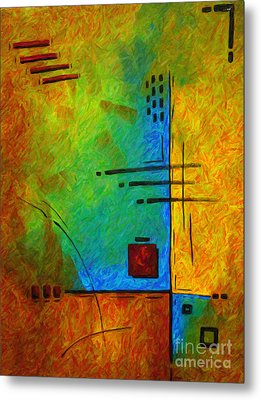 Original Abstract Painting Digital Conversion For Textured Effect Resonating IIi By Madart Metal Print by Megan Duncanson