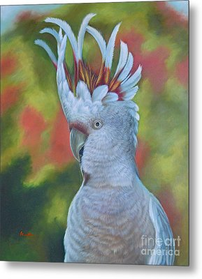 Original Animal Oil Painting Art -parrot #16-2-5-17 Metal Print by Hongtao     Huang